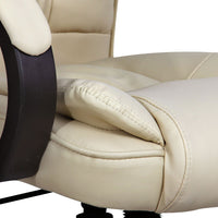 Executive Office Chair - Beige seat cushion