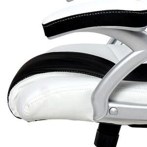 Zebra Racing Style Office Chair side view close up