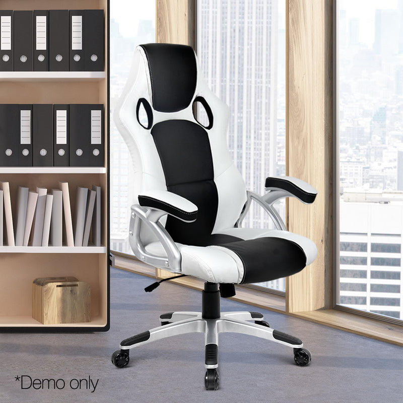 Zebra Racing Style Office Chair demo picture only