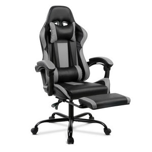Grey Racer Office Chair