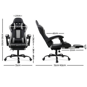 Grey Racer Office Chair measurements