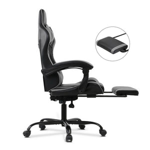 Grey Racer Office Chair foot rest