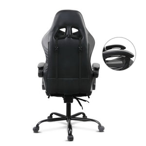 Grey Racer Office Chair back