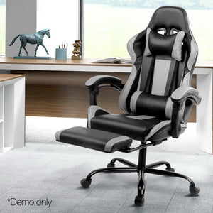 Grey Racer Office Chair demo picture