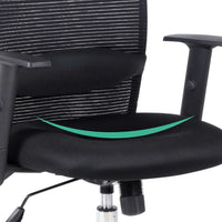 Mesh High Back Office Chair - Black seat contour