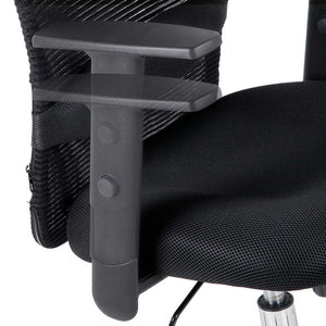 Mesh High Back Office Chair - Black armrest adjustment