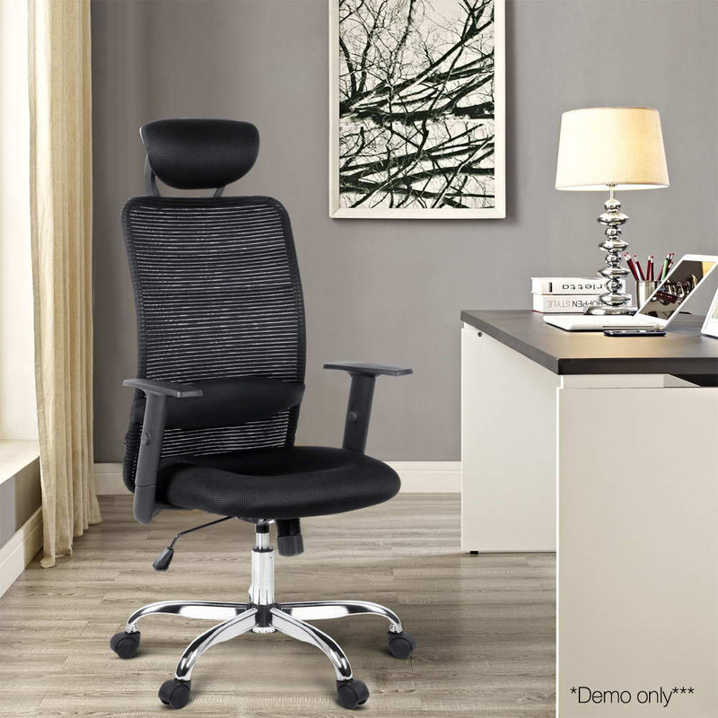 Mesh High Back Office Chair - Black demo picture