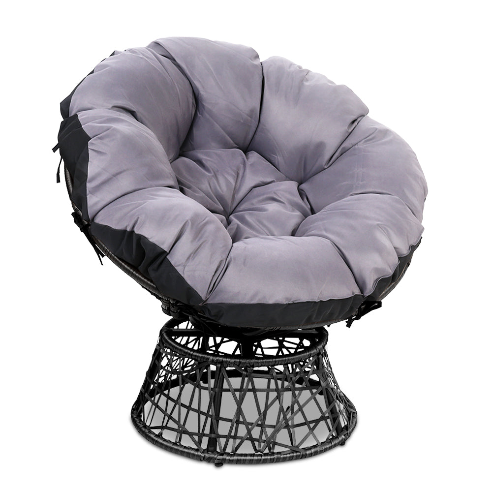 Single Papasan Chair - Black