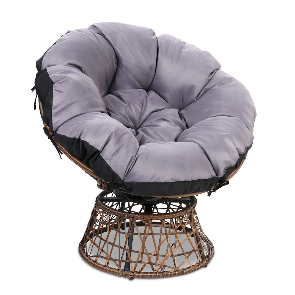 Single Papasan Chair - Brown