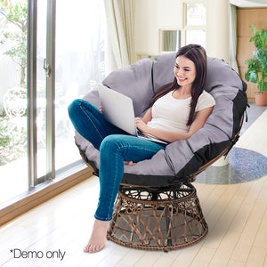 Single Papasan Chair - Brown- cemo picture