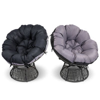 Papasan Chair and Side Table - Black alternate cover colours