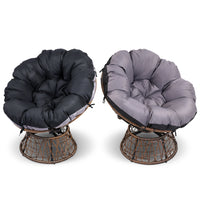Papasan Chair and Side Table - Brown cushion alternate colours