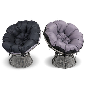 Papasan Chair and Side Table - Grey cushion cover colours