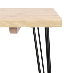 Bailey 6 Seat Dining Table - corner close up