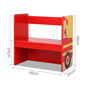Kids Fire Engine Table & Chair Set
