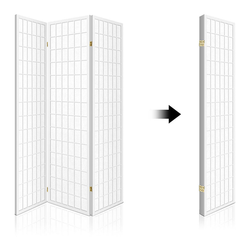 Gretel 3 Panel Room Divider closing