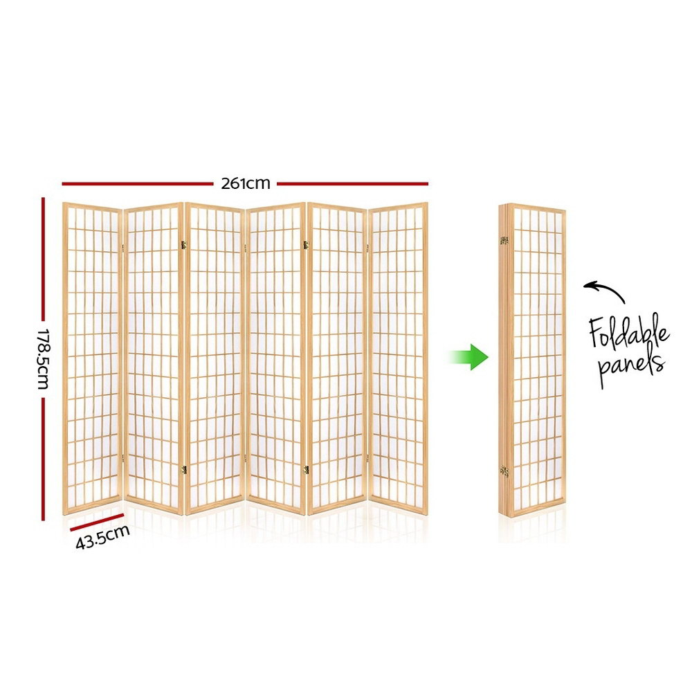 Hunter 6 Panel Room Divider measurements