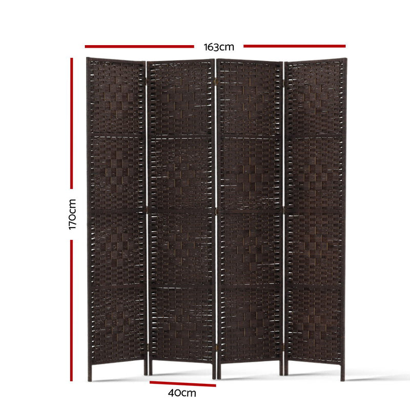 Donald 4 Panel Room Divider measurements