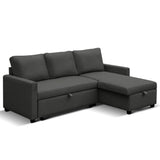 Lyndon Three Seater Sofa Bed with Storage
