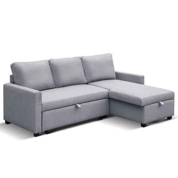 Aster Three Seater Sofa Bed with Storage full view