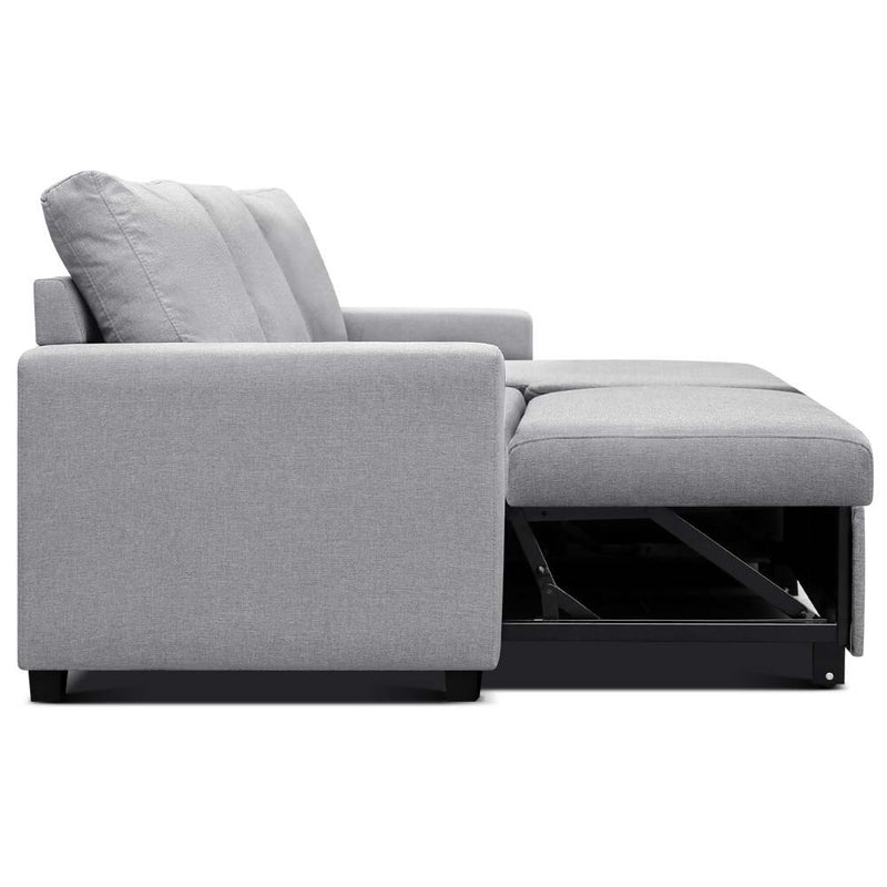 Aster Three Seater Sofa Bed with Storage side view