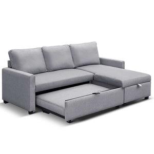 Aster Three Seater Sofa Bed with Storagebottom out