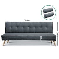 Basil 3 Seater Sofa Bed measurements as sofa