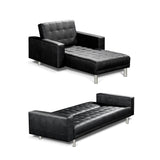 Atlas PU Leather Sofa Bed sleeping option 2