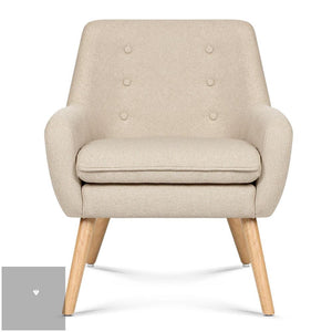 Anne Fabric Armchair - Beige front view