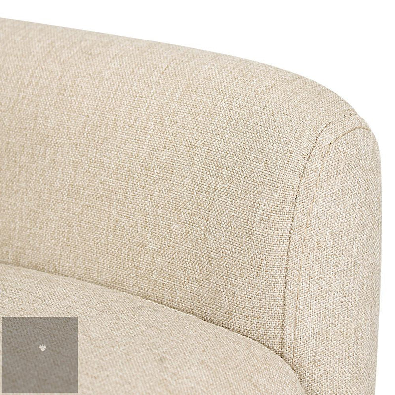 Anne Fabric Armchair - Beige arm rest