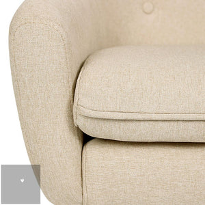 Anne Fabric Armchair - Beige seat close up