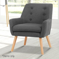 Ted Fabric Armchair - Charcoal demo only
