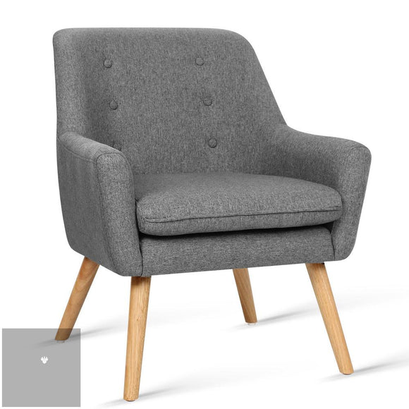 Theo Fabric Armchair - Grey