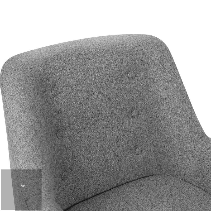 Theo Fabric Armchair - Grey back rest