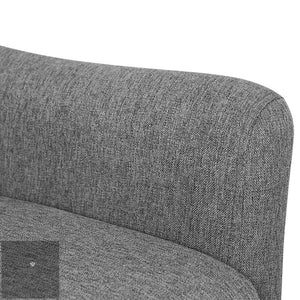 Theo Fabric Armchair - Grey arm rest