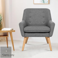 Theo Fabric Armchair - Grey demo picture