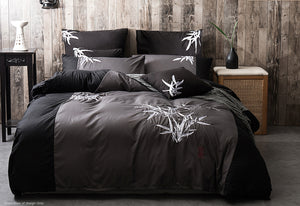 Embroidered Bamboo Super King Quilt Cover Set
