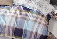 Rectangle & Stripes King Quilt Cover