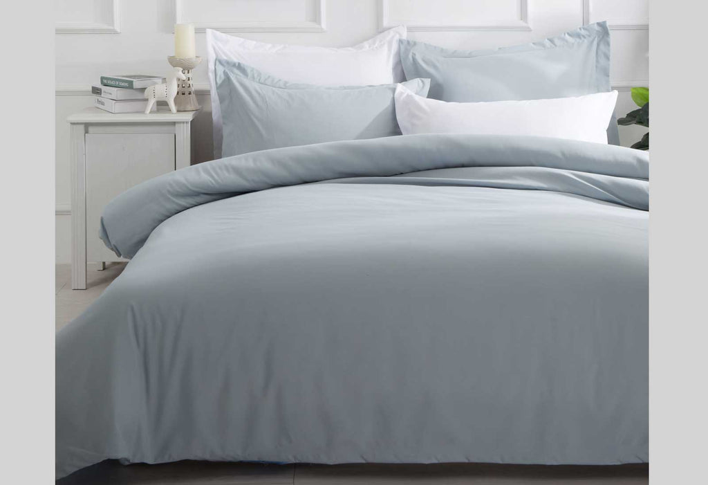 Blue Fog Single Quilt Cover Set