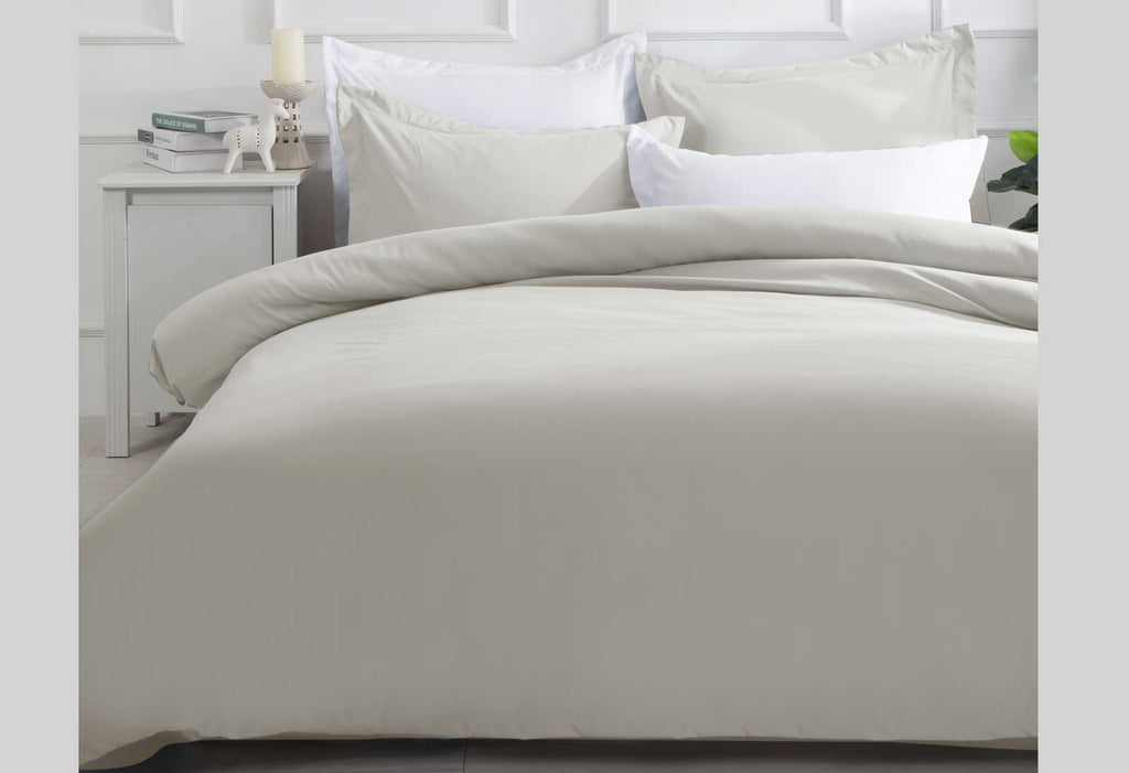 Linen Color Single Quilt Cover Set