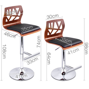 Jenny - Wooden Bar Stools (Set of 2) - HomeSimplicity