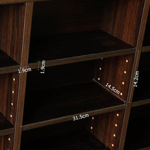 Adjustable CD & Bookshelf - Brown inside shelf measurements