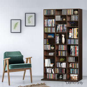 Adjustable CD & Bookshelf - Brown demo picture