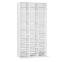 Adjustable CD & Bookshelf - White