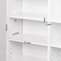 Adjustable CD & Bookshelf - White inside shelf measurements