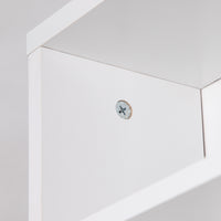 Adjustable CD & Bookshelf - White inside shelf close up