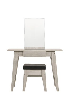 White Oak Dressing Table With Stool