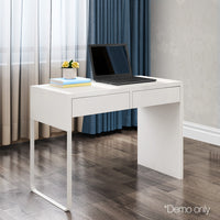 White Metal Desk with 2 Draws demo picture