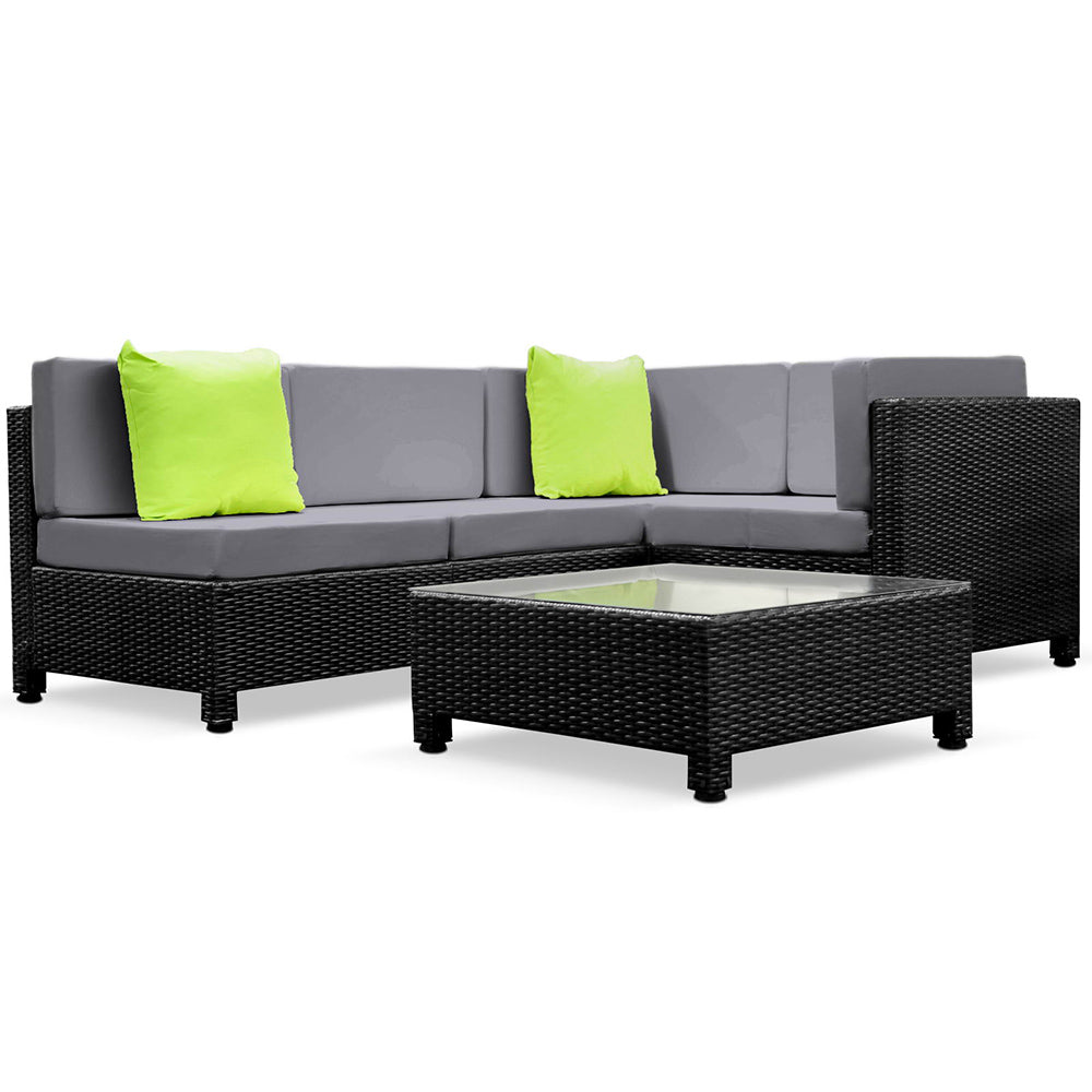 Guardian 5 Piece PE Wicker Outdoor Sofa