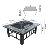 Outdoor Fire Pit BBQ Table Grill Fireplace - HomeSimplicity